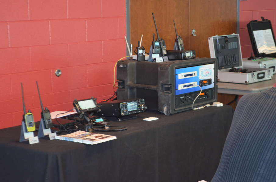 A display of products from Icom