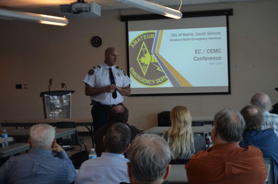 Deputy Fire Chief Jeff Weber of the City of Barrie giving his presentation